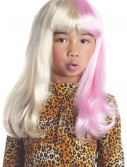 Child Pink and White Diva Wig, halloween costume (Child Pink and White Diva Wig)