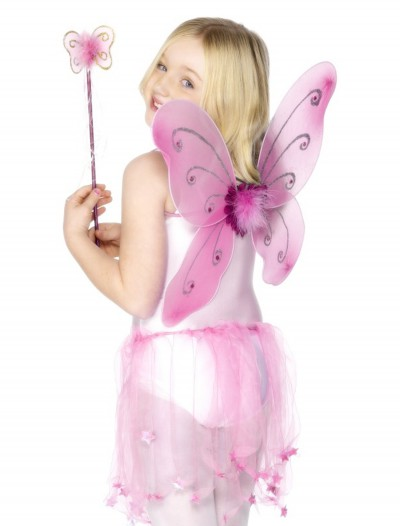 Child Pink Butterfly Wings Kit, halloween costume (Child Pink Butterfly Wings Kit)