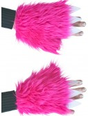 Child Pink Furry Hand Covers, halloween costume (Child Pink Furry Hand Covers)