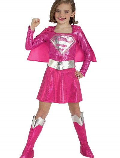 Child Pink Supergirl Costume, halloween costume (Child Pink Supergirl Costume)