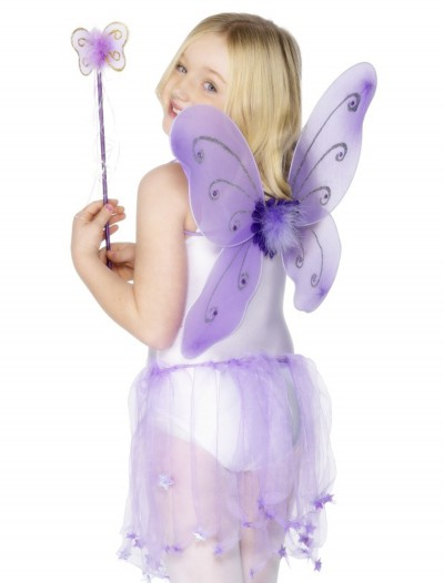 Child Purple Butterfly Wings Kit, halloween costume (Child Purple Butterfly Wings Kit)