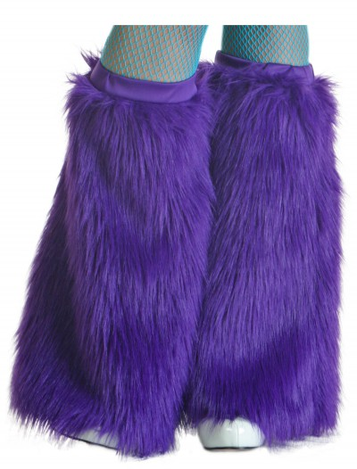 Child Purple Furry Boot Covers, halloween costume (Child Purple Furry Boot Covers)