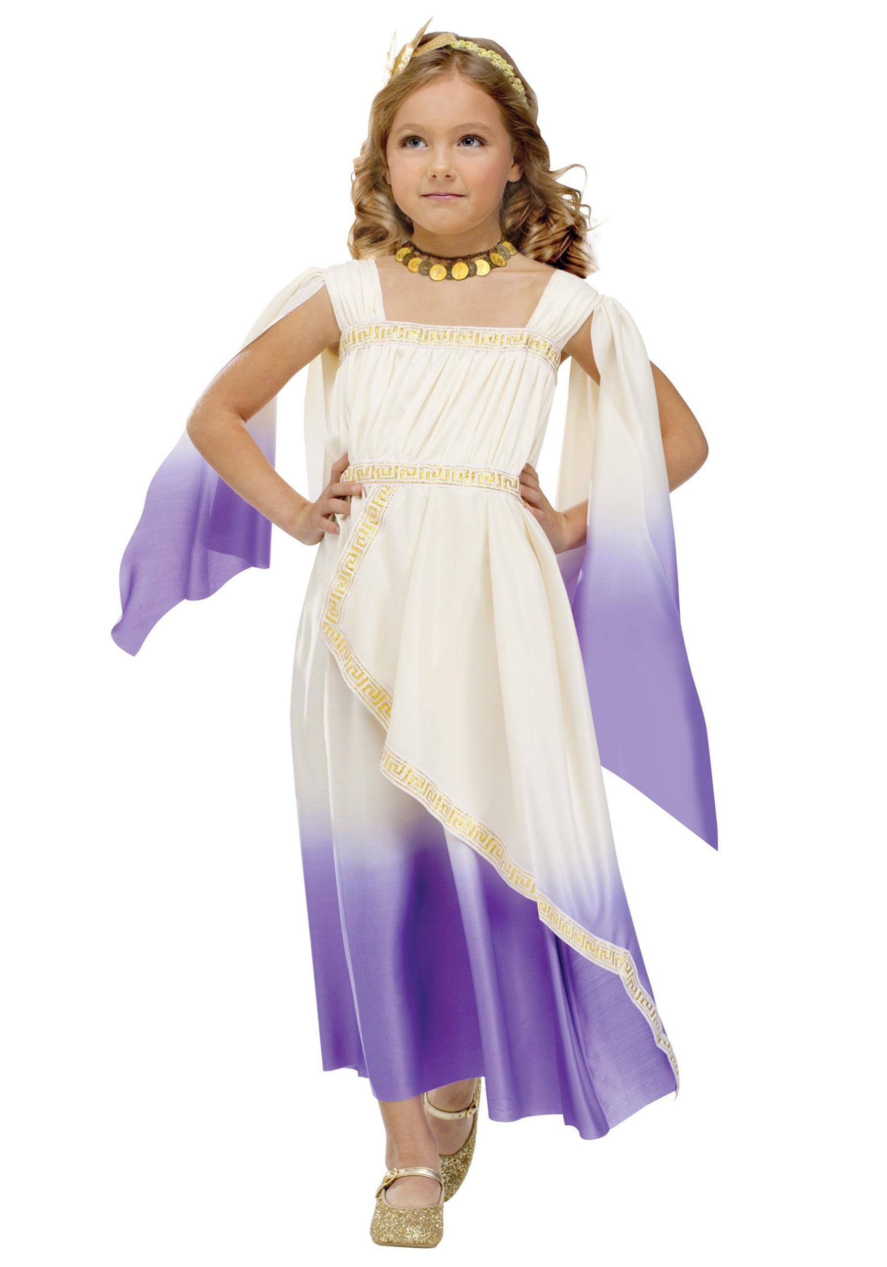 child purple goddess costume
