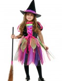 Child Rainbow Glitter Witch Costume, halloween costume (Child Rainbow Glitter Witch Costume)