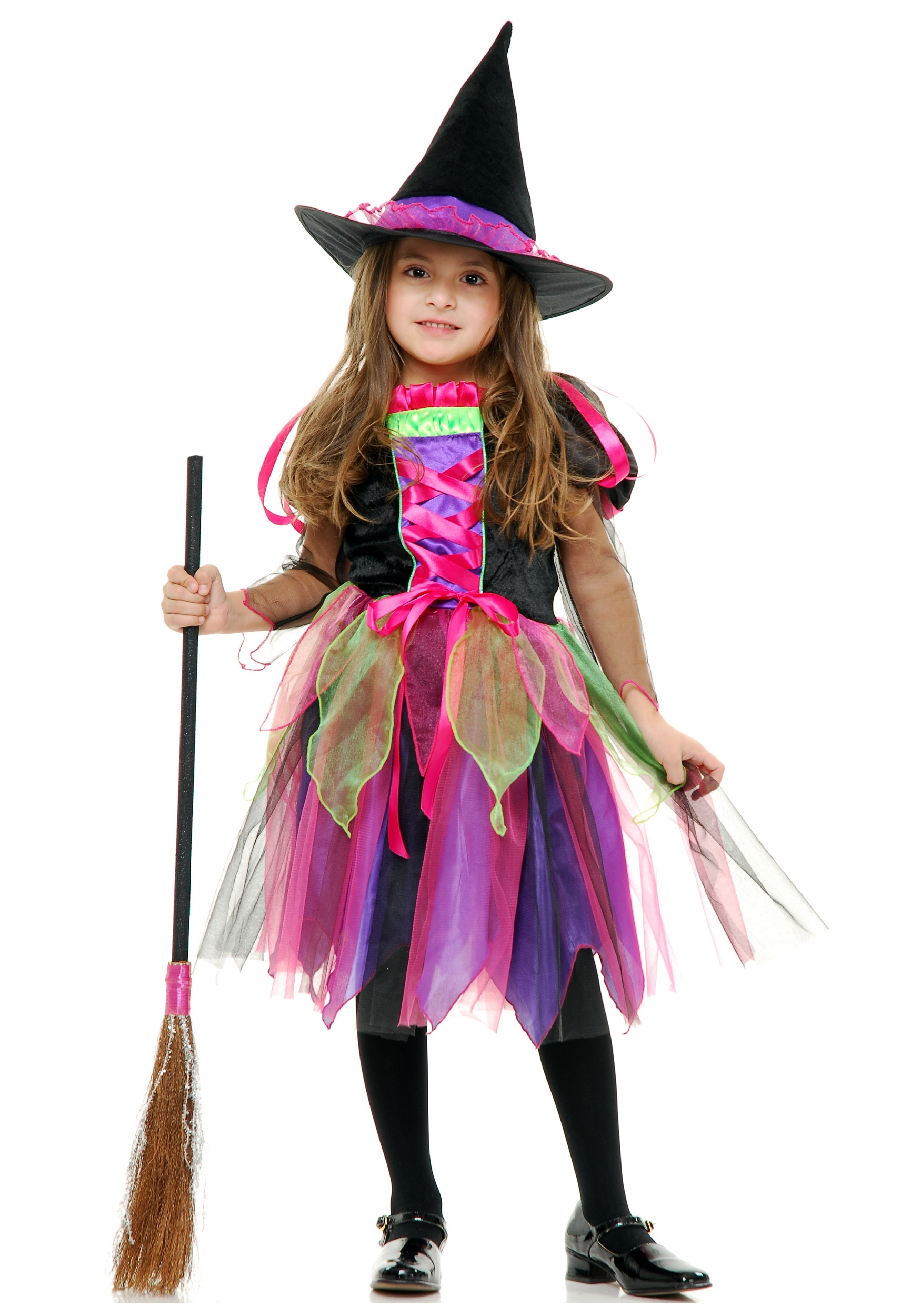 Child Rainbow Glitter Witch Costume  sc 1 st  Halloween Costumes & Child Rainbow Glitter Witch Costume - Halloween Costumes