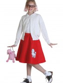 Child Red 50s Poodle Skirt, halloween costume (Child Red 50s Poodle Skirt)