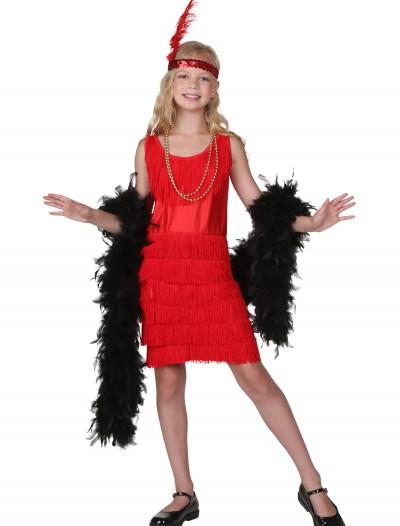 Child Red Fringe Flapper Costume, halloween costume (Child Red Fringe Flapper Costume)