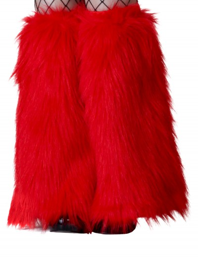 Child Red Furry Boot Covers, halloween costume (Child Red Furry Boot Covers)