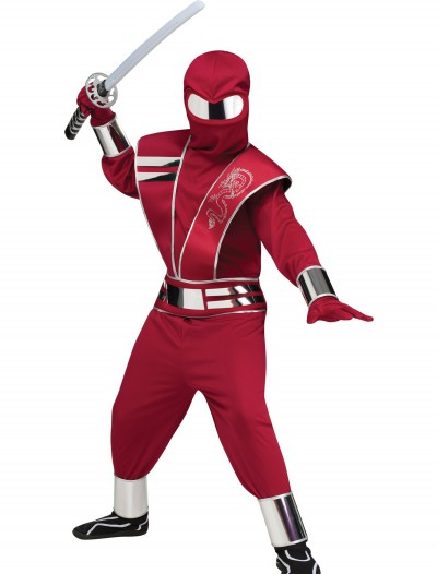 Child Red Mirror Ninja Costume, halloween costume (Child Red Mirror Ninja Costume)