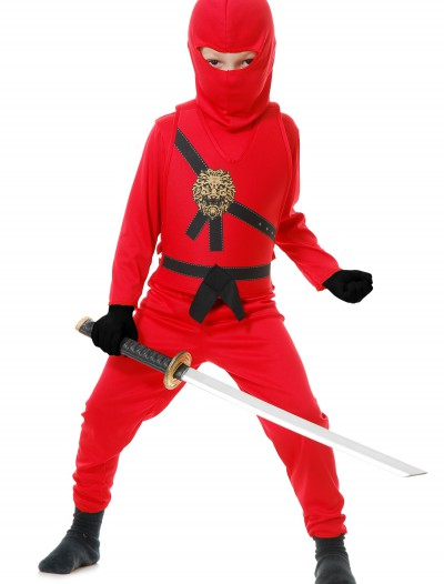 Child Red Ninja Master Costume, halloween costume (Child Red Ninja Master Costume)