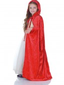 Child Red Panne Cape, halloween costume (Child Red Panne Cape)