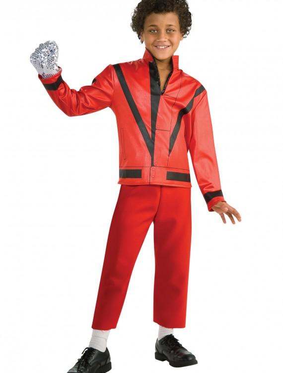 Child Red Thriller Jacket, halloween costume (Child Red Thriller Jacket)