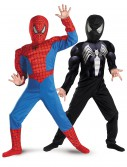 Child Reversible Muscle Chest Spiderman Costume, halloween costume (Child Reversible Muscle Chest Spiderman Costume)
