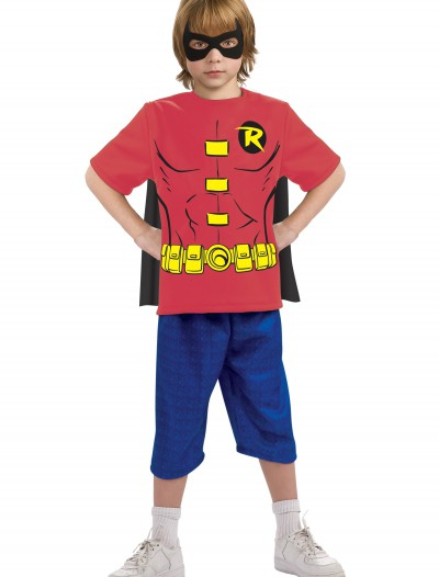 Child Robin Costume T-Shirt, halloween costume (Child Robin Costume T-Shirt)