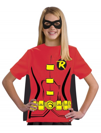 Child Robin T-Shirt Costume, halloween costume (Child Robin T-Shirt Costume)