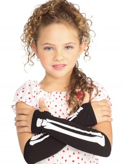 Child Skeleton Glovelettes, halloween costume (Child Skeleton Glovelettes)