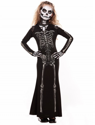 Child Skeleton Sweetie Maxi Dress, halloween costume (Child Skeleton Sweetie Maxi Dress)