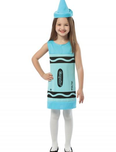 Child Sky Blue Crayon Dress, halloween costume (Child Sky Blue Crayon Dress)