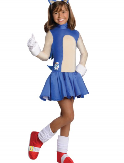 Child Sonic Girls Costume, halloween costume (Child Sonic Girls Costume)