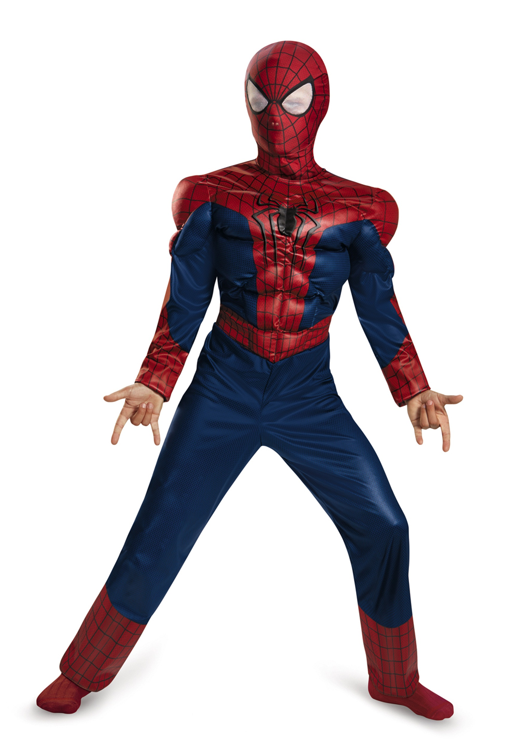 child spider man 2 classic muscle costume