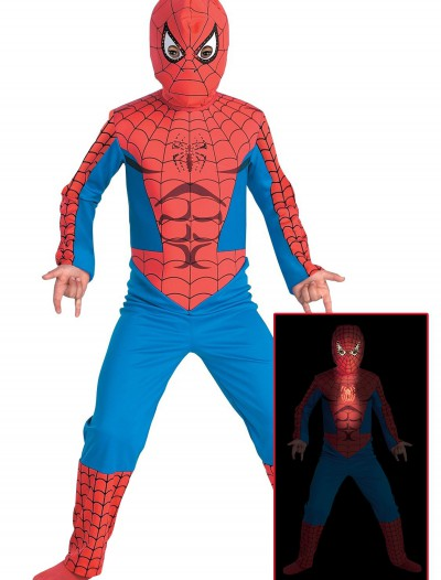 Fiber Optic Child Spiderman Costume, halloween costume (Fiber Optic Child Spiderman Costume)