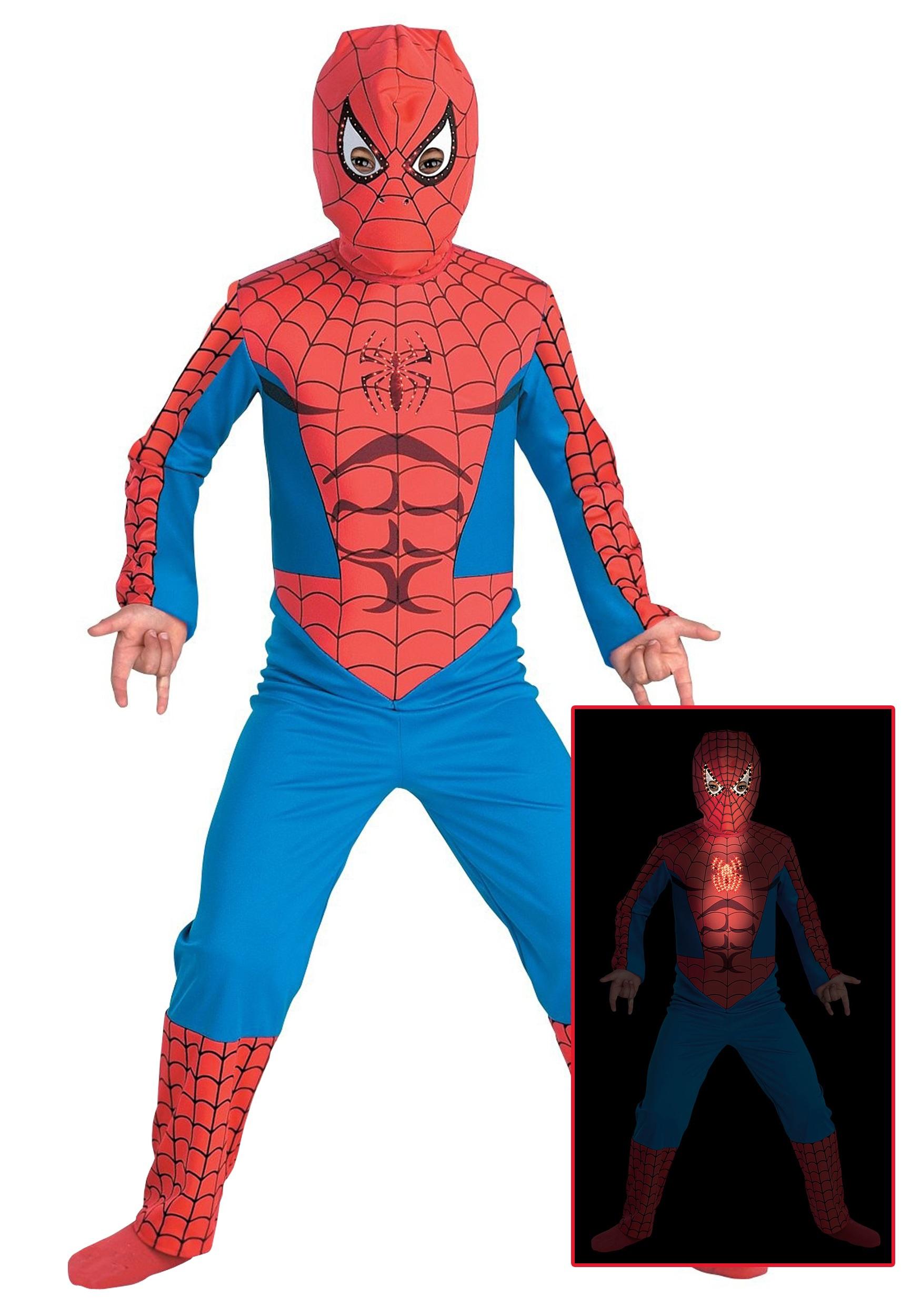 Fiber Optic Child Spiderman Costume  sc 1 st  Halloween Costumes & Fiber Optic Child Spiderman Costume - Halloween Costumes