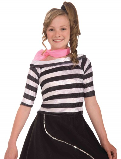 Child Striped Sock Hop Top, halloween costume (Child Striped Sock Hop Top)