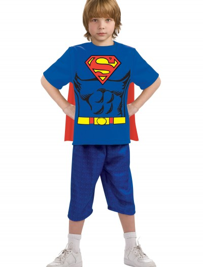 Child Superman Costume T-Shirt, halloween costume (Child Superman Costume T-Shirt)