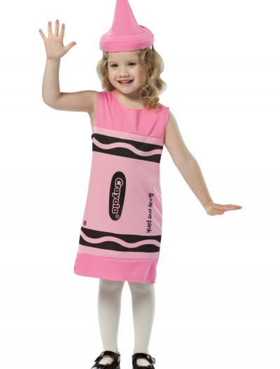 Child Tickle Me Pink Crayon Dress, halloween costume (Child Tickle Me Pink Crayon Dress)