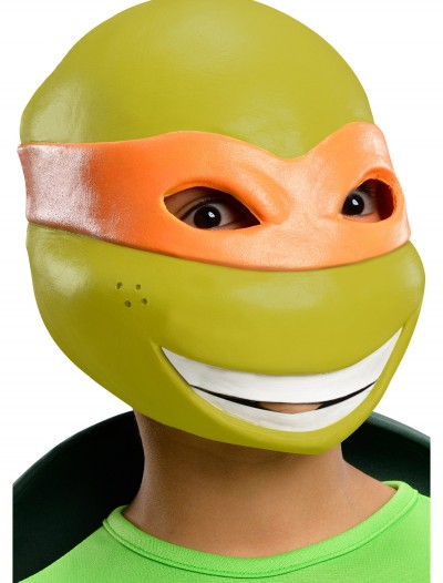 Child TMNT Michelangelo 3/4 Mask, halloween costume (Child TMNT Michelangelo 3/4 Mask)