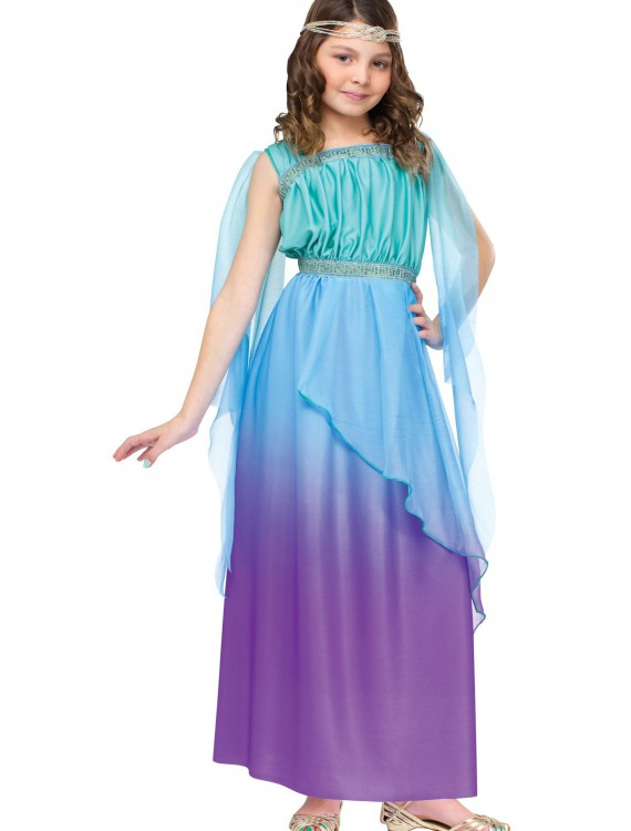 Child Tricolor Ombre Goddess Costume, halloween costume (Child Tricolor Ombre Goddess Costume)