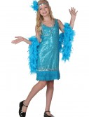 Child Turquoise Sequin and Fringe Flapper Costume, halloween costume (Child Turquoise Sequin and Fringe Flapper Costume)