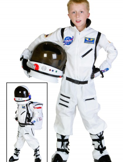 Child White Astronaut Costume, halloween costume (Child White Astronaut Costume)