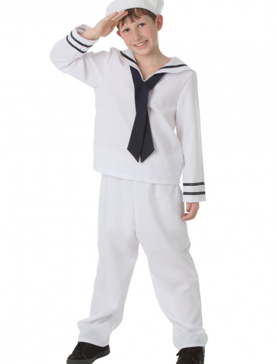 Child White Sailor Costume, halloween costume (Child White Sailor Costume)