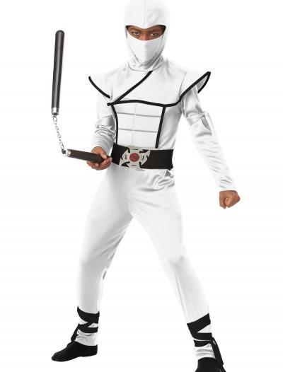 Child White Stealth Ninja Costume, halloween costume (Child White Stealth Ninja Costume)