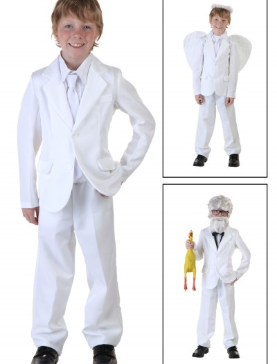 Child White Suit Costume, halloween costume (Child White Suit Costume)