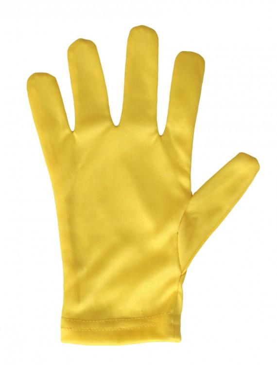 Child Yellow Gloves, halloween costume (Child Yellow Gloves)