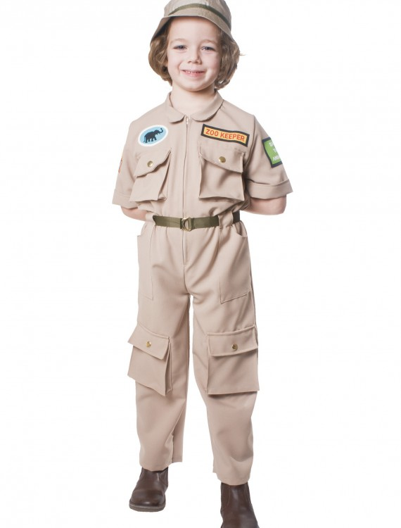 Child Zoo Keeper Costume, halloween costume (Child Zoo Keeper Costume)