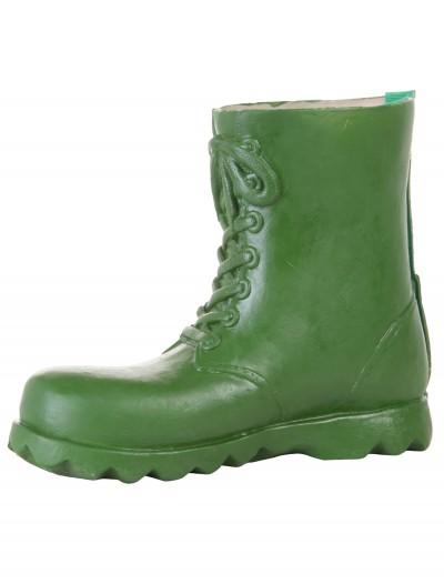 Children's Green Latex Boot Covers, halloween costume (Children's Green Latex Boot Covers)