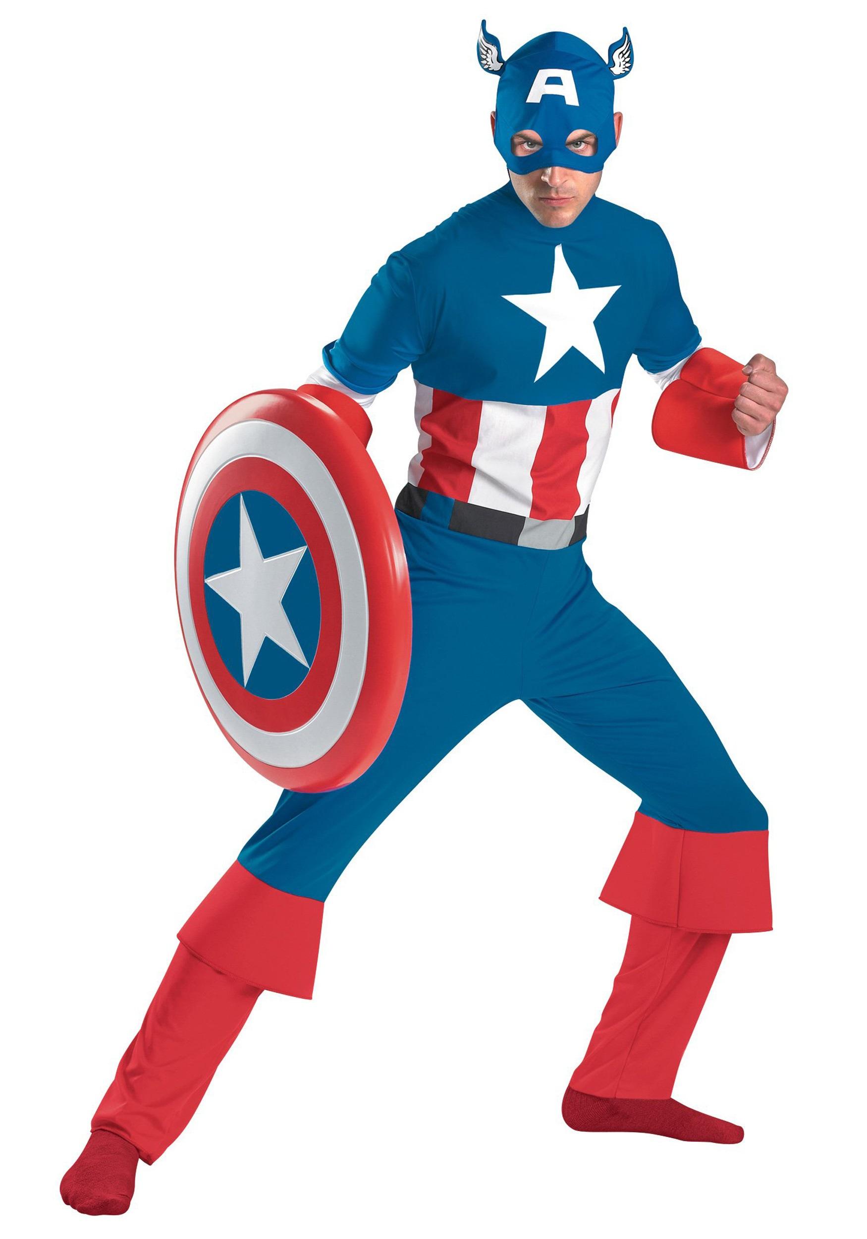 Classic Captain America Costume  sc 1 st  Halloween Costumes & Classic Captain America Costume - Halloween Costumes