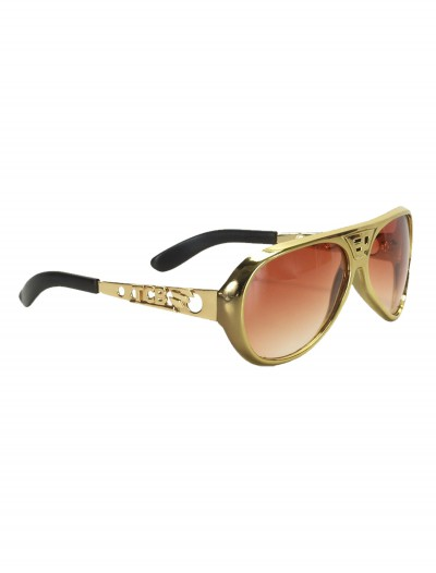 Classic Gold Elvis Glasses, halloween costume (Classic Gold Elvis Glasses)