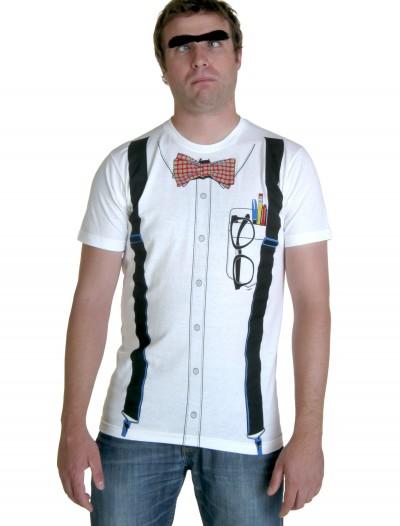 Classic White Nerd T-Shirt, halloween costume (Classic White Nerd T-Shirt)