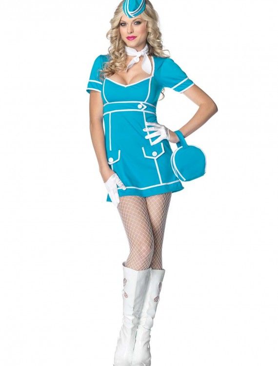 Classy Flight Attendant Costume, halloween costume (Classy Flight Attendant Costume)