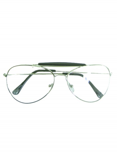 Clear Aviator Glasses, halloween costume (Clear Aviator Glasses)