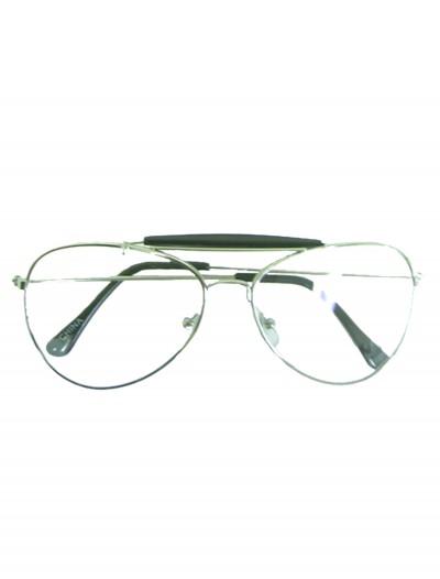 Clear Aviator Glasses, halloween costume (Clear Aviator Glasses)