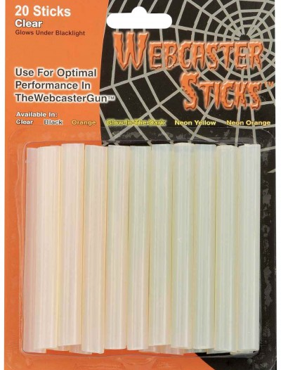 Clear Webcaster Sticks, halloween costume (Clear Webcaster Sticks)