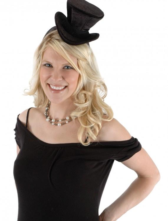 Cocktail Top Hat Headband Black, halloween costume (Cocktail Top Hat Headband Black)