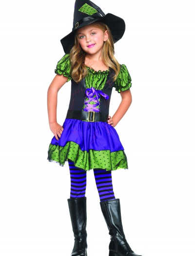 Colorful Child Witch Costume, halloween costume (Colorful Child Witch Costume)