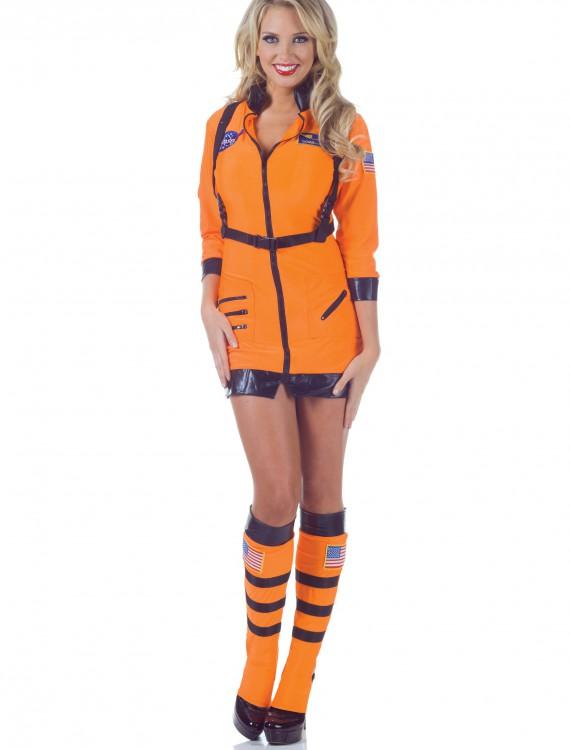 Cosmic Women's Orange Astronaut Costume, halloween costume (Cosmic Women's Orange Astronaut Costume)
