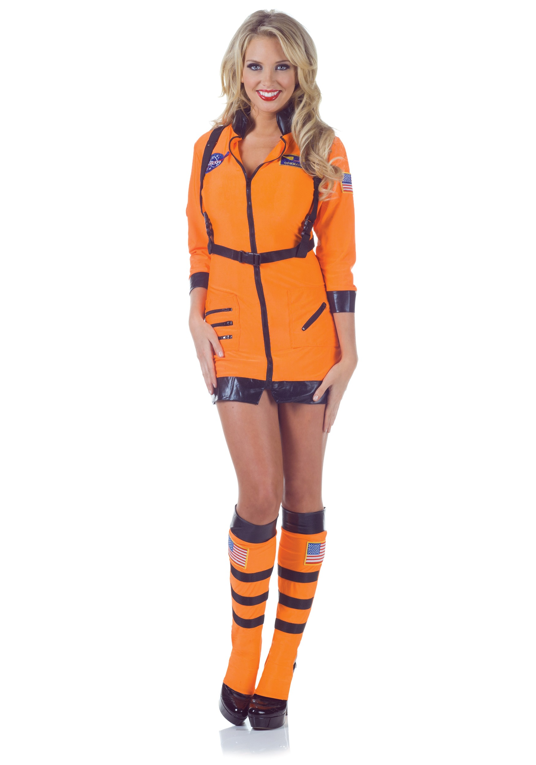 Womens Astronaut Costume Sexy Astronaut Costume Front Tap To